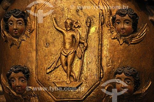 Assunto: Detalhes em ouro do altar da Igreja Nossa Senhora da Boa Viagem / Local: Itabirito - Minas Gerais (MG) - Brasil / Data: 18-04-2009
