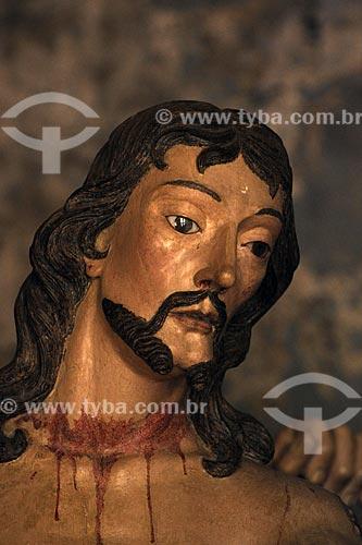 Estátuas  em cedro em tamanho natural, para a Via Crucis das seis capelinhas votivas do Santuário de Bom Jesus de Matosinhos  de Aleijadinho (Antônio Francisco Lisboa)  - Congonhas - Minas Gerais - Brasil