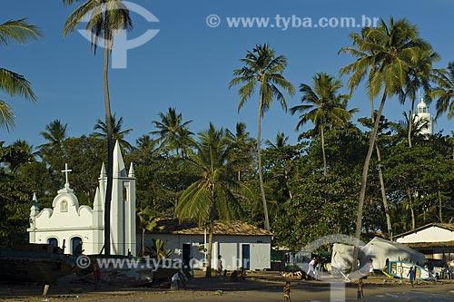 Assunto: Igreja na Praia do Forte / Local: Mata de São João - Bahia (BA) - Brasil / Data: Fevereiro de 2006