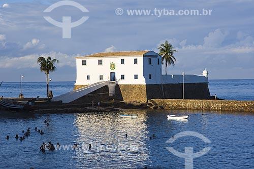Assunto: Forte de Santa Maria na praia do Porto da Barra / Local: Salvador - Bahia (BA) - Brasil / Data: Fevereiro de 2006