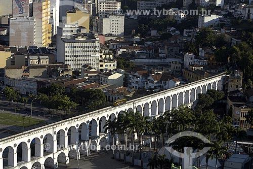 Assunto: Bairro da Lapa, região boêmia da cidade do Rio de Janeiro. Vista dos Arcos do Lapa / Local: Lapa - Rio de Janeiro - RJ - Brasil / Data: 2008