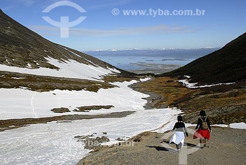 Assunto: Glaciar Martial, estação de esqui em Ushuaia com vista panorâmica da cidade e do Canal de Beagle / Local: Ushuaia - Argentina / Data: 2008