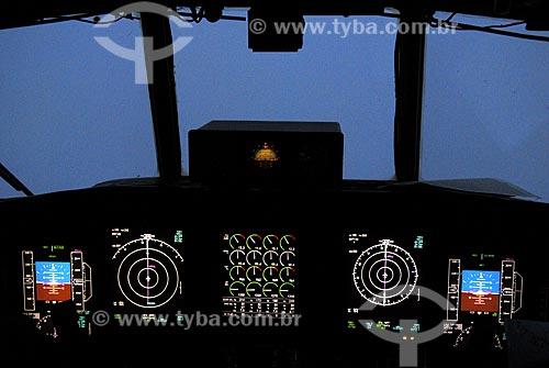 Assunto: Painel de navegação aérea do C-130 Hércules da FAB / Local: Hércules / Data:11 / 2008