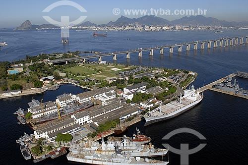Assunto: Ilha de Mocanguê - Base militar da Marinha na Baía de Guanabara / Local: Niterói - RJ - Brasil / Data: 06/2008