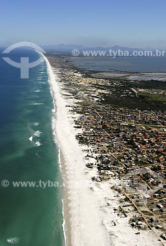 Assunto: Vista aérea da Praia Grande / Local: Arraial do Cabo - RJ - Brasil / Data: 06/2008