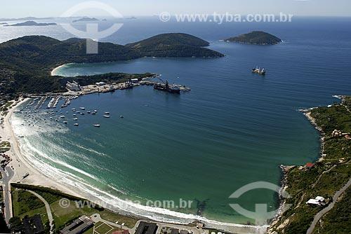 Assunto: Vista aérea da Praia dos Anjos e do Porto do Forno / Local: Búzios - RJ - Brasil / Data: 06/2008