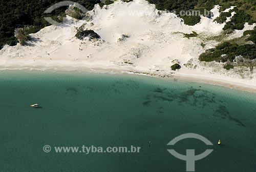 Assunto: Vista aérea do Pontal do Atalaia / Local: Arraial do Cabo - RJ - Brasil / Data: 06/2008