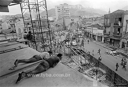 Assunto: Demolição da Zona do Mangue / Local: Cidade Nova - Rio de Janeiro (RJ) - Brasil / Data: 11/1977