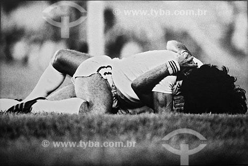 Assunto: Jogadores do Fluminense comemorando o gol / Local: Maracanã - Rio de Janeiro - RJ - Brasil / Data: anos 80