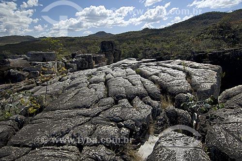 Assunto: Formações rochosas no Canyon 2 - Parque Nacional da Chapada dos Veadeiros / Local: Goiás (GO) - Brasil / Data: Julho de 2007