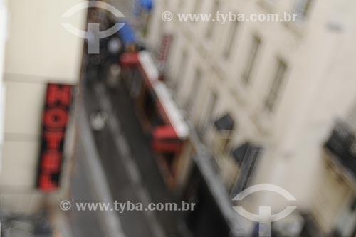 Assunto: Vista da Rue de la Huchette a partir do Hotel Mont Blanc / Local: Paris - França / Data: Maio 2009