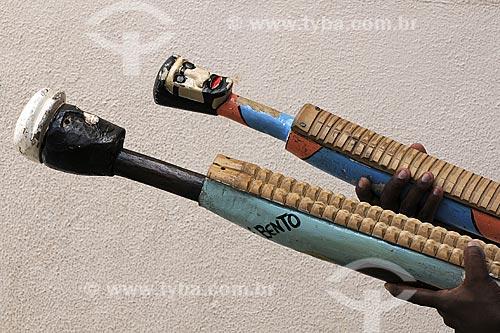 Assunto: Instrumentos de Congo - Projeto Congo na Escola - Escola Francisco Lacerda de Aguiar / Local: Ilha das Caieiras - Vitória - ES / Data: Março de 2008