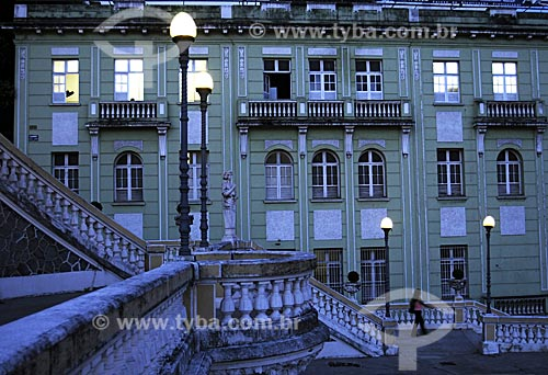 Assunto: Escadaria do Palácio Anchieta em primeiro plano /Local: Vitória - ES /Data: Março de 2008