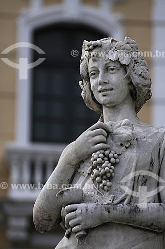 Assunto: Escultura do Palácio Anchieta / Local: Vitória - ES /Data: Março de 2008