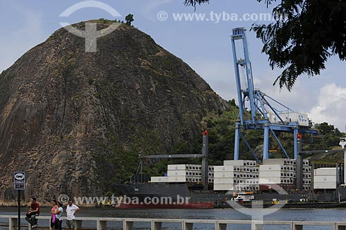 Assunto: Navio cargueiro com rebocador na Baía de Vitória / Local: Vitória - ES /Data: Março de 2008