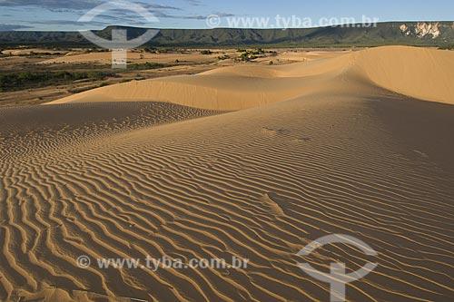 Assunto: Dunas do Jalapão, com suas areias douradas, no Parque Estadual do Jalapão / Local: Tocantins (TO) - Brasil / Data: Junho de 2006