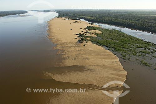 Assunto: Rio Branco na época da seca, com praias aparecendo / Place: Roraima (RR) - Brasil / Data: Janeiro de 2006