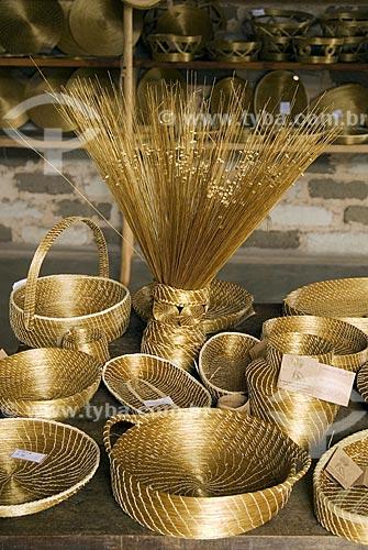 Assunto: Artesanato de Capim Dourado - Região do Jalapão / Local: Mateiros - Tocantins - Brasil / Data: 02/2007