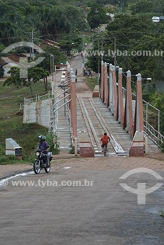 Assunto: Ponte de madeira sobre o Rio Ponte Alta / Local: Ponte Alta do Tocantis - Tocantins - Brasil / Data: 02/2007