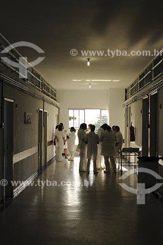 Assunto: Corredor da enfermaria do Hospital Mário Kroeff, especializado no tratamento de câncerLocal: Penha - Rio de Janeiro - RJData: Abril de 2009