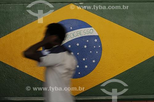 Assunto: Colégio Estadual Monteiro de Carvalho  - Bandeira do BrasilLocal: Santa Teresa - Rio de Janeiro (RJ) - BrasilData: 09/07/2009