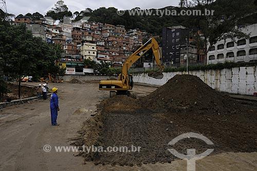 Assunto: PAC Rocinha - Operários e maquinária / Local: Rocinha - Rio de Janeiro (RJ) / Data: 21/7/2009