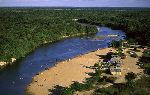 Assunto: Balneário no rio Cauamé / Local: Boa Vista - Roraima (RR) - Brasil / Data: Março de 2009