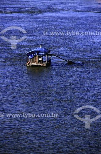 Assunto: Balsa que retira areia do leito do rio Branco / Local: Boa Vista - Roraima (RR) - Brasil / Data: Março de 2009