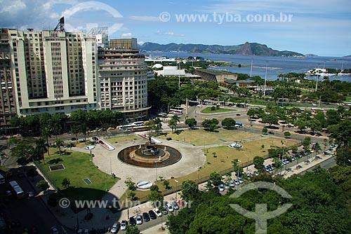 Assunto: Praça Mahatma Gandhi / Local: Centro - Rio de Janeiro - RJ - Brasil / Data: Março de 2009