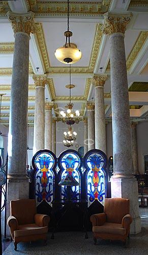Assunto: Biombo com vitral no interior do Hotel Raquel / Local: Havana - Cuba / Data: outubro 2009