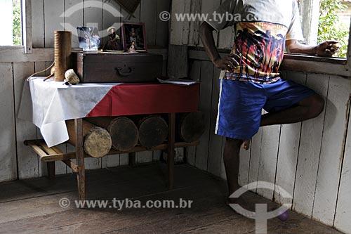 Assunto: Membros da Associacao Quilombola do Baixo Caete, Africa e Laranjituba / Local: Moju - Pará - Brasil / Data: 02-04-2009