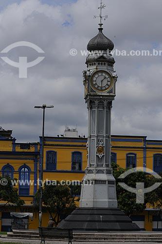 Relógio trazido da Inglaterra em 1930 medindo doze metros de altura e figuras alusivas às quatro estações do ano na Praça Siqueira Campos, popularmente conhecida como Praça do Relógio  - Belém - Pará - Brasil