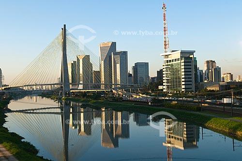 Assunto: Ponte Octavio Frias de Oliveira - Ponte Estaiada - TV Globo / Local:São Paulo-SP / Data: Agosto de 2009