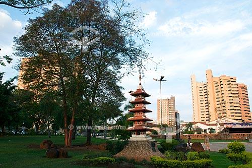 Assunto: Vista da Praça da República na cidade de Campo Grande - Jardim Oriental comemoração dos 80 anos da Imigração Japonesa / Local: Campo Grande - Mato Grosso do Sul (MS) / Data: Outubro de 2008
