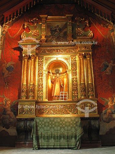 Assunto: Retábulo da Igreja de São Lourenço dos Índios, a mais antiga da cidade de niterói / Local: São Lourenço - Niterói - RJ - Brasil / Data: Outubro de 2009