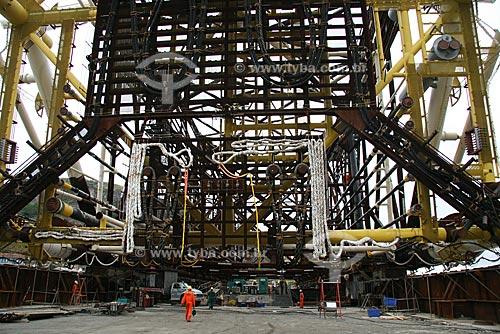 Assunto: Construção da Plataforma de Mexilhão, para exploração de gás natural, no Estaleiro Mauá / Local: Niterói - RJ - Brasil / Data: Outubro de 2009