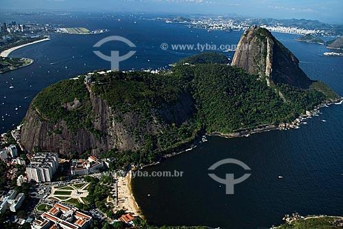 Assunto: Vista aérea da Praia Vermelha e do Pão de Açúcar / Local: Urca - Rio de Janeiro - RJ - Brasil / Data: Outubro de 2009