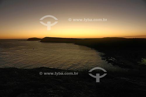 Assunto: Entardecer na ponta da ilha de Santa Barbara, no arquipélago de Abrolhos / Local: Parque Nacional Marinho dos Abrolhos / Data: Julho de 2008