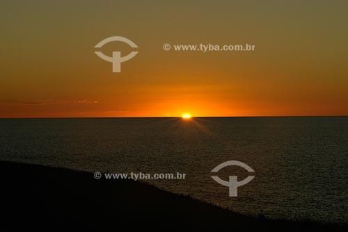Assunto: Pôr do sol no Arquipélado de Abrolhos / Local: Parque Nacional Marinho dos Abrolhos / Data: Julho de 2008