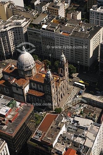 Assunto: Vista aéra da Igreja da Candelária, no centro da cidade do Rio de Janeiro / Local: Rio de Janeiro - RJ - Brasil / Data: Março de 2005