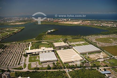 Assunto: Vista aérea do Riocentro com a Lagoa de Jacarepaguá ao fundo / Local: Barra da Tijuca - Rio de Janeiro - RJ - Brasil / Data: Março 2005