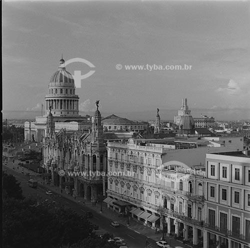 Assunto: Vista do Capitólio, do Gran Teatro de la Habana (Grande Teatro de Havana) e do Hotel Inglaterra/ Local: Havana - Cuba / Date: outubro 2009