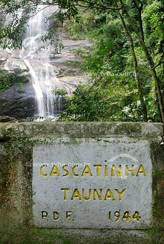 Assunto: Cascatinha Taunay. /  Local: Floresta da Tijuca, Rio de Janeiro - RJ / Data: 06/06/09
