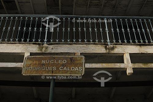 Assunto: Varanda da sede da fazenda do Barão da Taquara - Núcleo Histórico Rodrigues Caldas - Colônia Juliano Moreira / Local:  Jacarepaguá - Rio de Janeiro - RJ  / Data: 27/07/2009