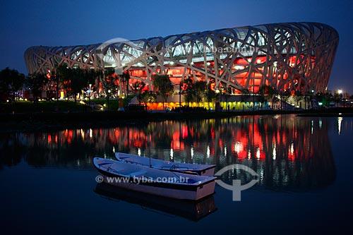 Assunto: Estádio Nacional de Pequim (conhecido como Ninho de Pássaro)  / Local:  Pequim - China  / Data: Agosto de 2008