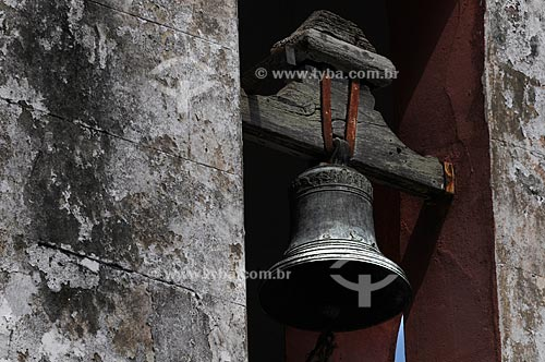 Igreja de São Nicolau do Suruí, construída entre 1710 e 1712, século 18, erguida no alto de um morro localizado à margem do Rio Suruí, o único dos portos fluviais do período colonial ainda ativo  - Magé - Rio de Janeiro - Brasil