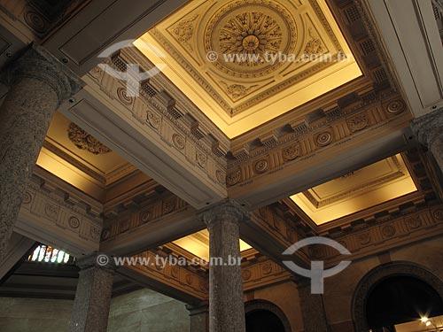 Assunto: Detalhe interno do prédio do Arquivo Nacional (Antiga casa da Moeda) na Praça da República  / Local:  Rio de Janeiro - RJ  / Data: Dezembro de 2009