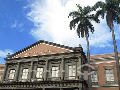 Assunto: Fachada do antigo edifício da Casa da Moeda do Brasil, onde é hoje o Arquivo Nacional  / Local:  Rio de Janeiro - RJ  / Data: Dezembro de 2009