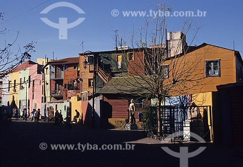 Assunto: Casas coloridas do Caminito, no bairro La Boca / Local: Buenos Aires - Argentina