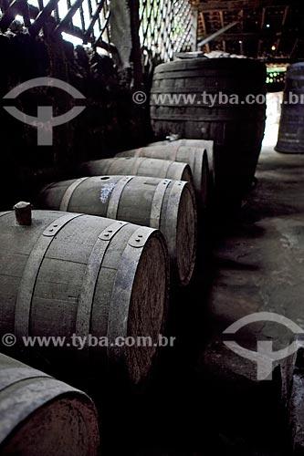 Assunto: Barris para armazenamento de cachaça no engenho de aguardente, Fazenda Murycana / Local: Paraty - Costa Verde - Rio de Janeiro  / Data: Janeiro 2010